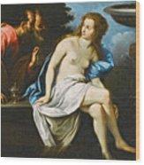 Susanna And The Elders Wood Print