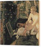 Susanna Bathing Wood Print