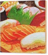 Sushi Plate 1 Wood Print