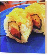 Sushi Plate 3 Wood Print