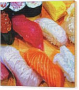Sushi Plate 4 Wood Print