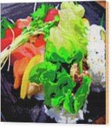 Sushi Plate 5 Wood Print