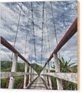 Suspended Bridge Wood Print