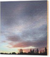 Suspenseful Skies Wood Print