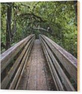 Suspension Bridge To Destiny Wood Print