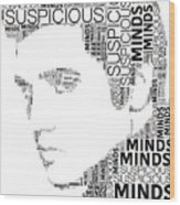 Suspicious Minds Elvis Wordart Wood Print