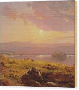 Susquehanna River Wood Print by Jasper Francis Cropsey