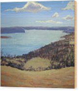 Susquehanna River View Wood Print
