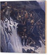 Suvorov Crossing The Alps In 1799 Wood Print