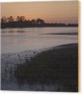 Suwanee River At Dusk Wood Print