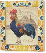 Suzani Rooster 1 Wood Print