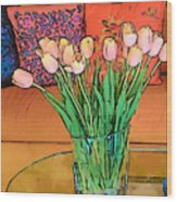 Suzannes Flowers Wood Print