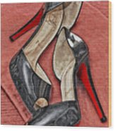 Suzette Loves Her Louboutins Wood Print