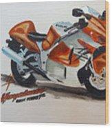 Suzuki Hayabusa Wood Print