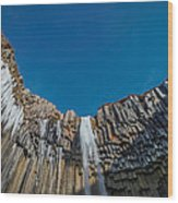 Svartifoss Waterfall, Iceland Black Wood Print