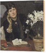 Sven Richard Bergh - The Artist, Julia Beck 1883 Wood Print