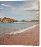 Sveti Stefan Island Iconic Landmark Wood Print