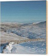 Swaledale In Winter Wood Print