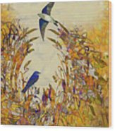 Swallow Tale Wood Print
