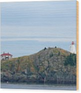 Swallowtail Lighthouse And Keeper Wood Print
