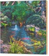Swamis Garden 2 Wood Print