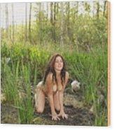 Swamp Beauty Five Wood Print