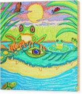 Swamp Life Wood Print