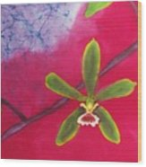 Swamp Orchi Fine Art Batik Wood Print