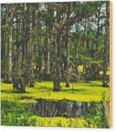 Swampy Beauty Wood Print