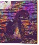 Swan Bird Animal Lake Summer  Wood Print