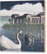 Swan Island Wood Print