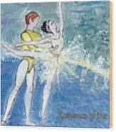 Swan Lake Ballet Poster Wood Print