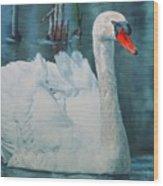 Swan Wood Print