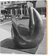 Swan Sculpture Grand Junction Co Wood Print