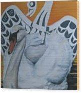 Swan Totem Wood Print