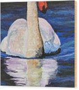 Swan Wildlife Art Wood Print