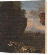 Swanevelt, Herman Van Woerden, 1603 - Paris, 1655 Landscape With Saint Benedict Of Nursia 1634 - 163 Wood Print