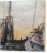 Swansboro Shrimp Boats Wood Print