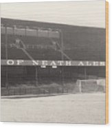 Swansea - Vetch Field - West Terrace 1 - Bw - 1960s Wood Print