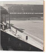 Swansea - Vetch Field - West Terrace 2 - Bw - 1960s Wood Print