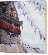 Swayambhunath II Wood Print