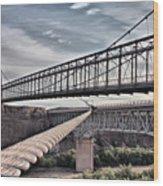 Swayback Suspension Bridge Wood Print