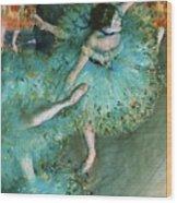 Swaying Dancer In Green Wood Print