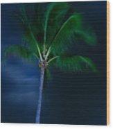 Swaying Palm Tree Wood Print