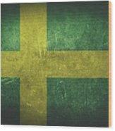 Sweden Distressed Flag Dehner Wood Print