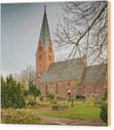 Swedish Brick Church Wood Print