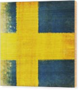 Swedish Flag Wood Print