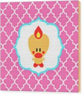 Sweet Angel Bird Cute Pink Trellis Decorative Pillow And Square Wall Art Print Wood Print