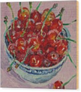 Sweet Cherries Wood Print