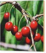 Sweet Cherry Pie Wood Print